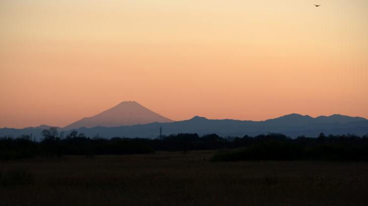 谷中湖の夕照